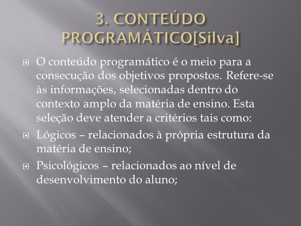 3. CONTEÚDO PROGRAMÁTICO[Silva]